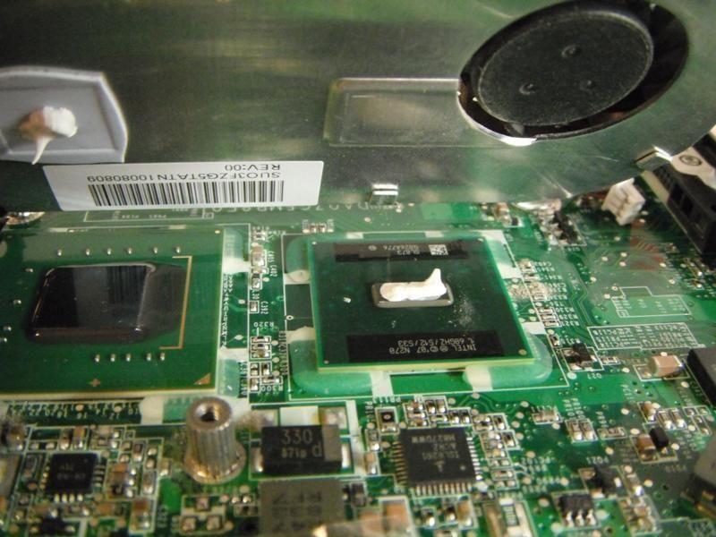 Термопаста на процессоре ноутбука