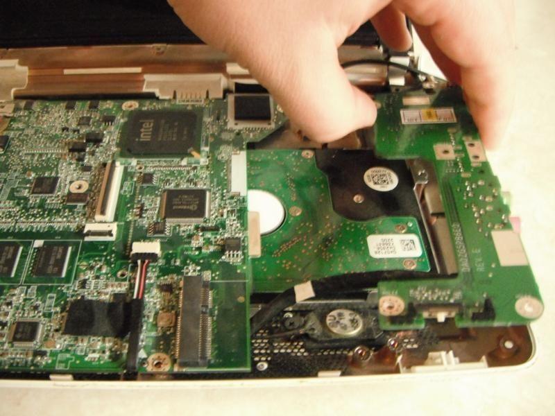 Демонтаж плат ноутбука