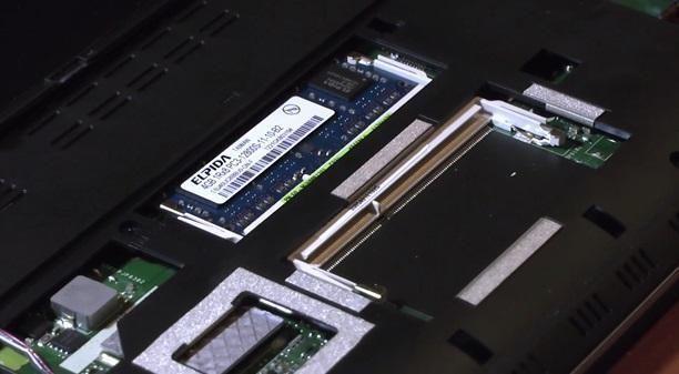 слот для планки памяти ноутбука